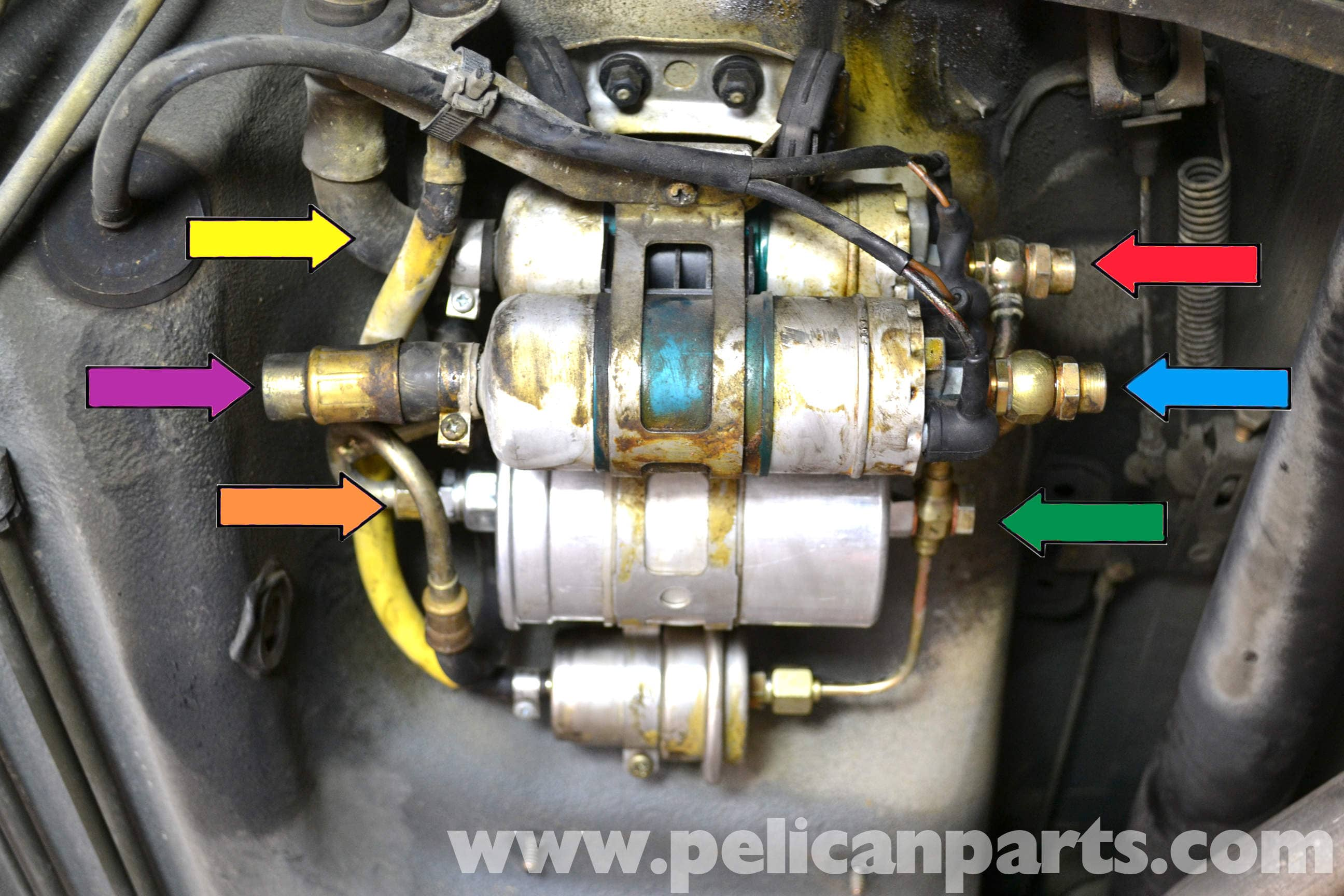 mercedes benz 190e fuel pump replacement w201 1987 1993 pelican rh  pelicanparts com