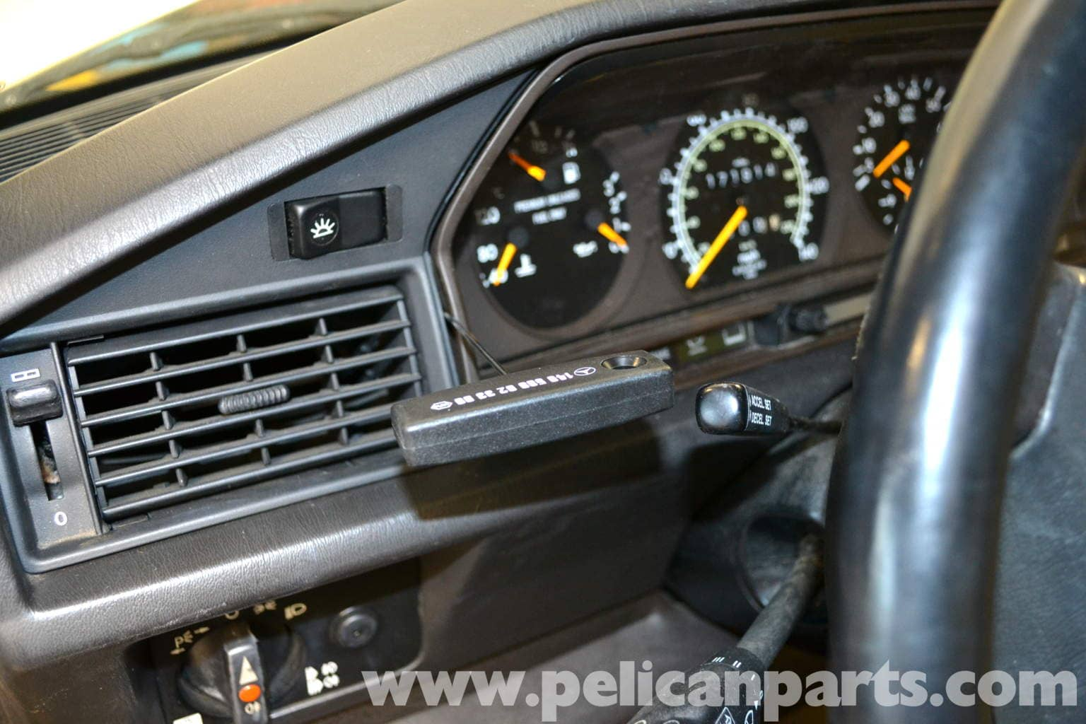 Mercedes Benz 190e Instrument Cluster Removal W201 1987