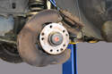 Begin by removing the front brake assembly shown in our tech article on brake pad and disc replacement.
