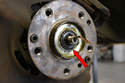With the axle nut and washer removed, you will be able to pull the hub off.