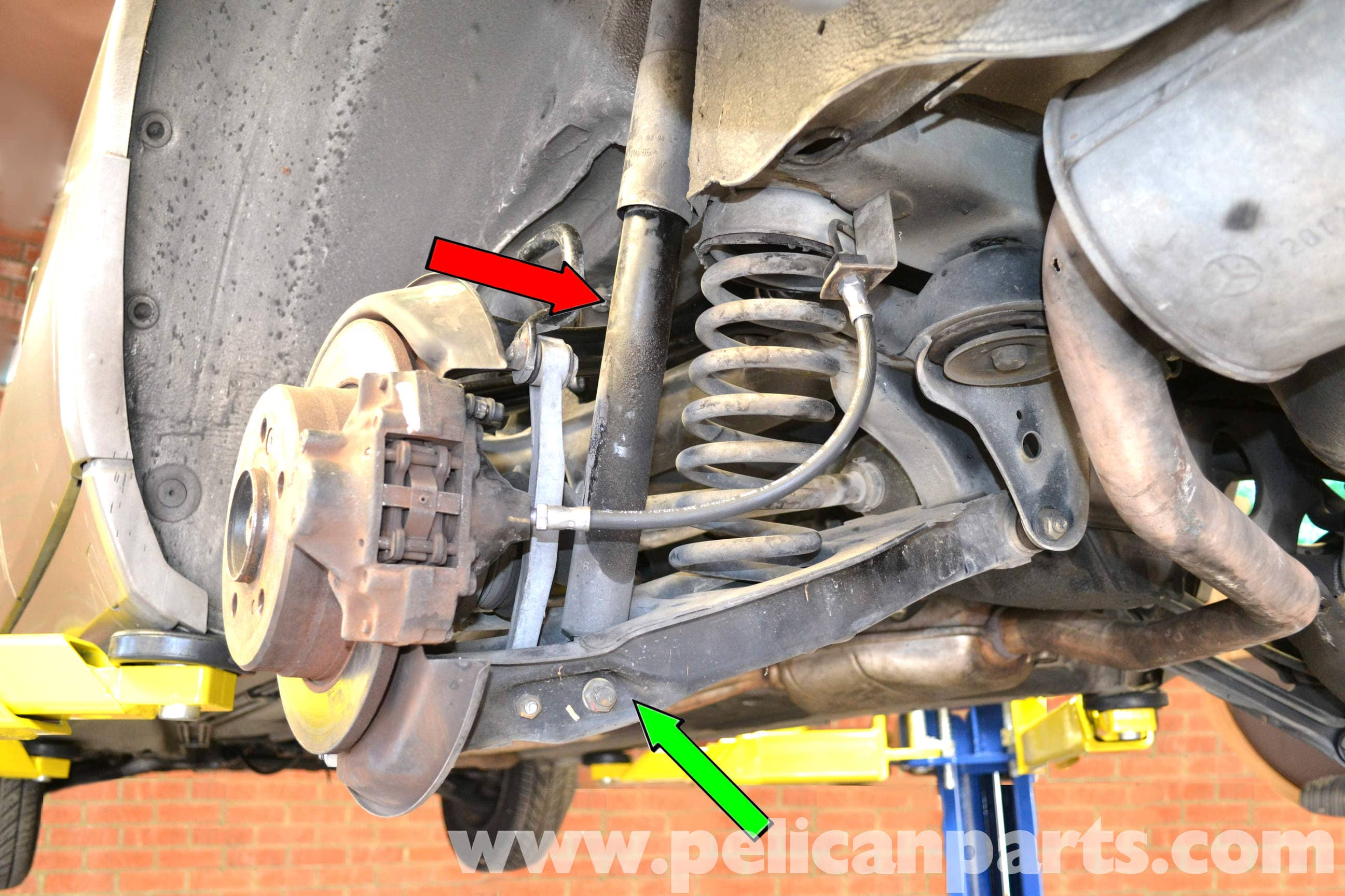 Mercedes benz 190e rear shock replacement w201 1987 1993 for Mercedes benz suspension parts