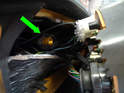 This photo shows what the end of the speedometer cable looks like.