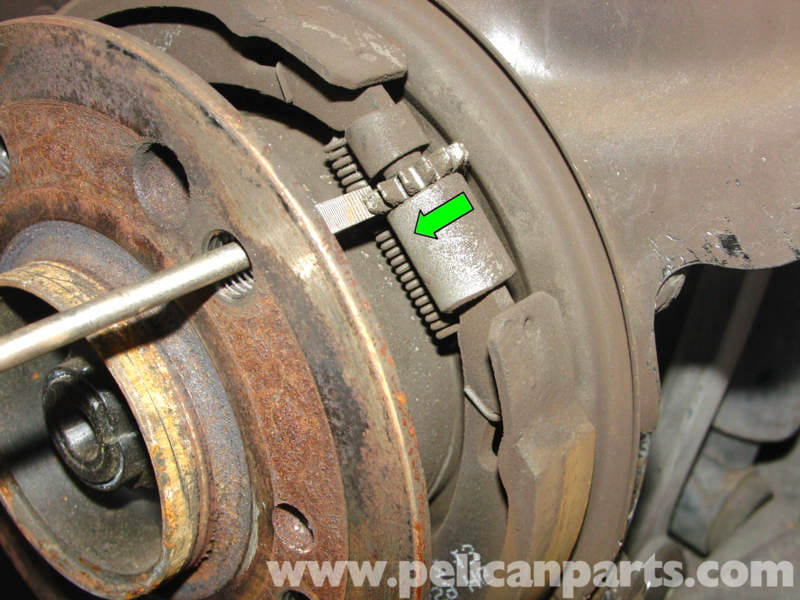 Mercedes Benz Brake Pads And Rotors >> Mercedes-Benz 190E Parking Brake Adjustment | W201 1987-1993 | Pelican Parts DIY Maintenance Article