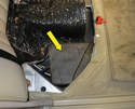 The supply pump is in a foam box under the passenger side rear seat.