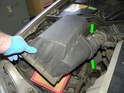 Lift the upper airbox cover up and off the lower portion.