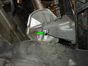 The left side mount is a little more difficult to replace due to the heat shield directly above the mount.