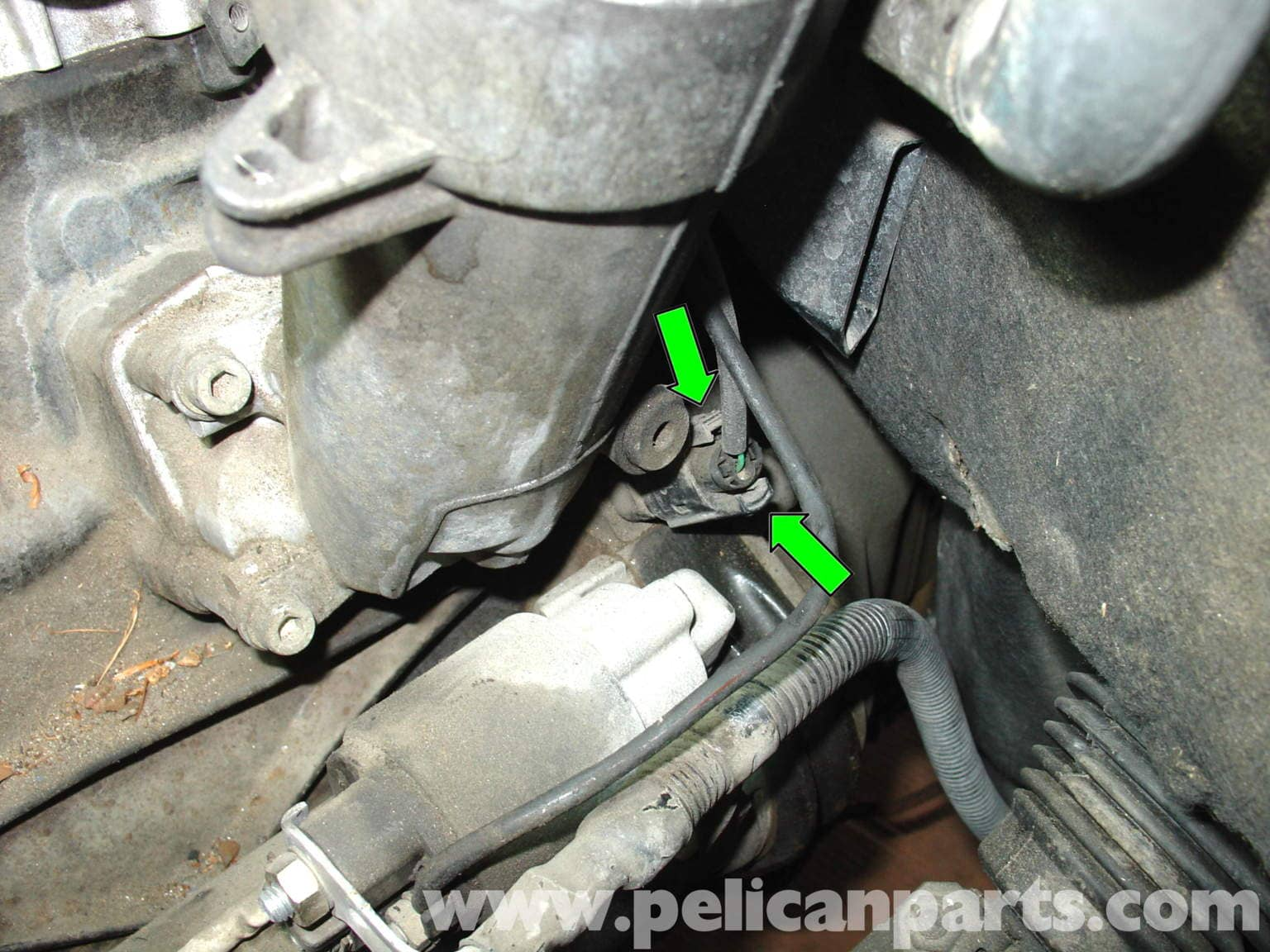 07 ENGINE Crankshaft Position Sensor Replacement on saab 900 fan switch