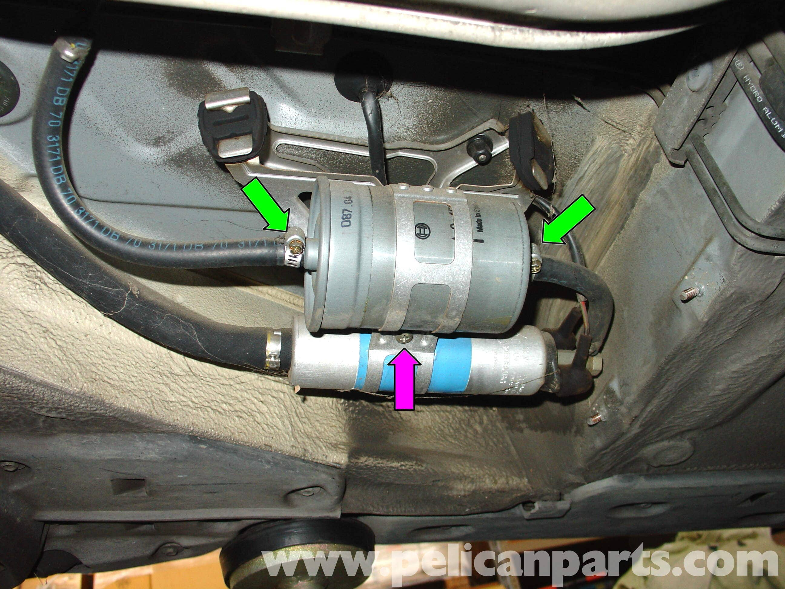 2002 dodge ram fuel filter location