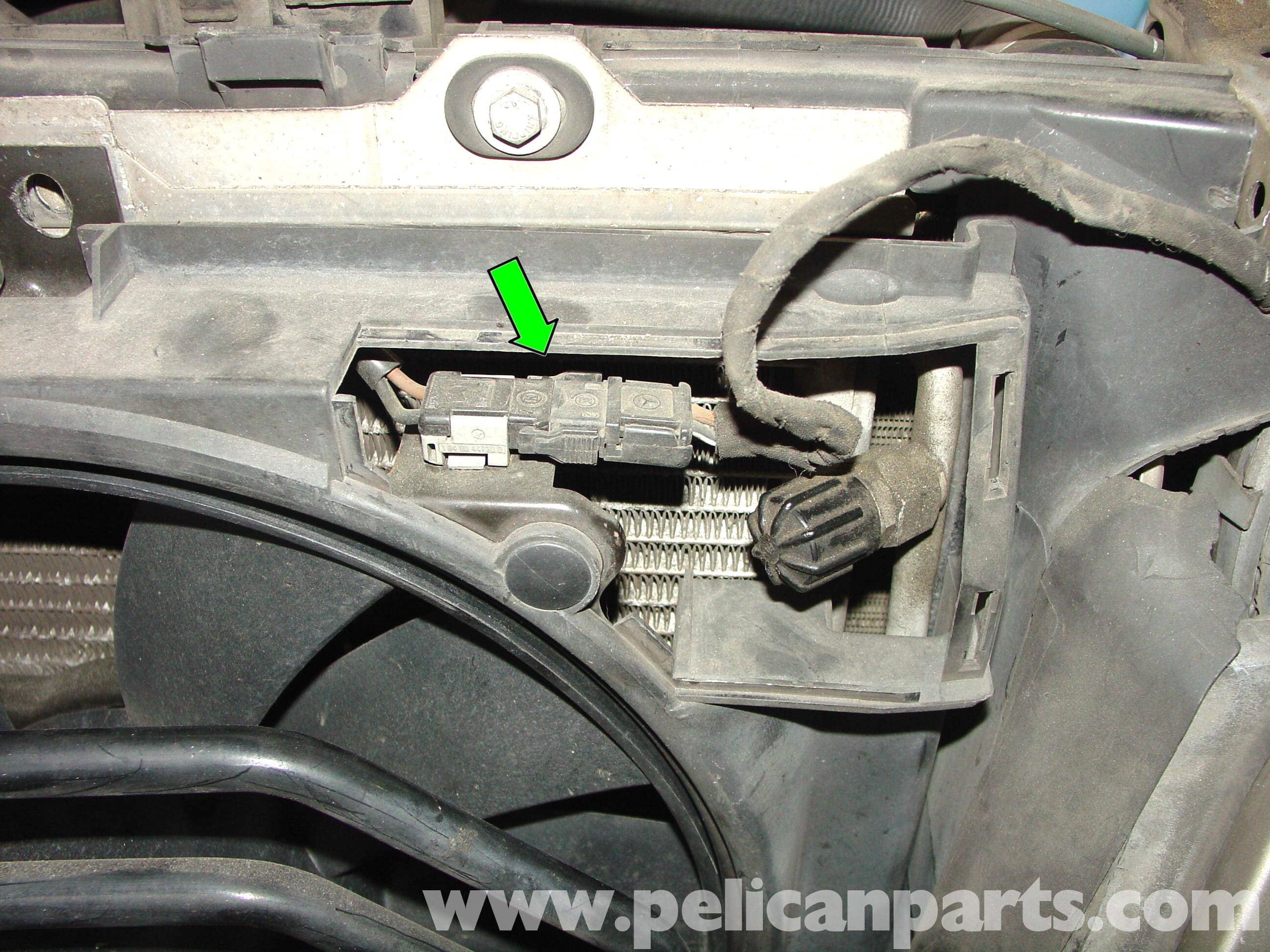 Mercedes Benz W210 Auxiliary Cooling Fan Belt Replacement 1996 03 92 Volvo 240 Fuse Box Location Large Image Extra
