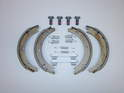Shown here are the pieces that make up a parking brake kit for your car.