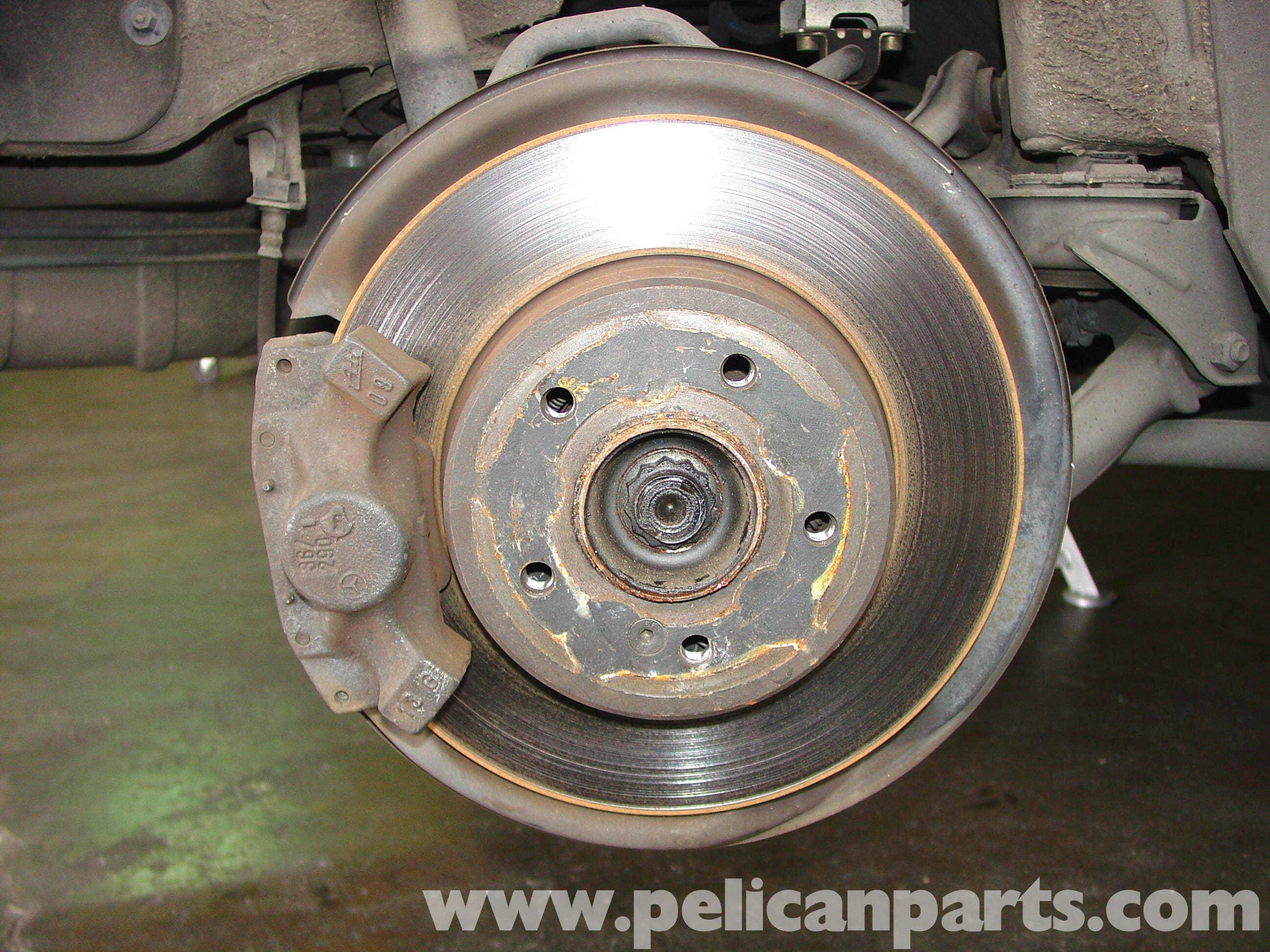 Brake Pad Replacement : Mercedes benz w rear brake pad disc replacement