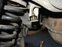 Shown here is the compression fitting on the end of the metal brake line.