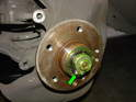 Here is the hub with the dust cap removed.