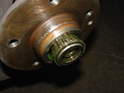 With the axle nut removed, you will be able to pull the hub off.