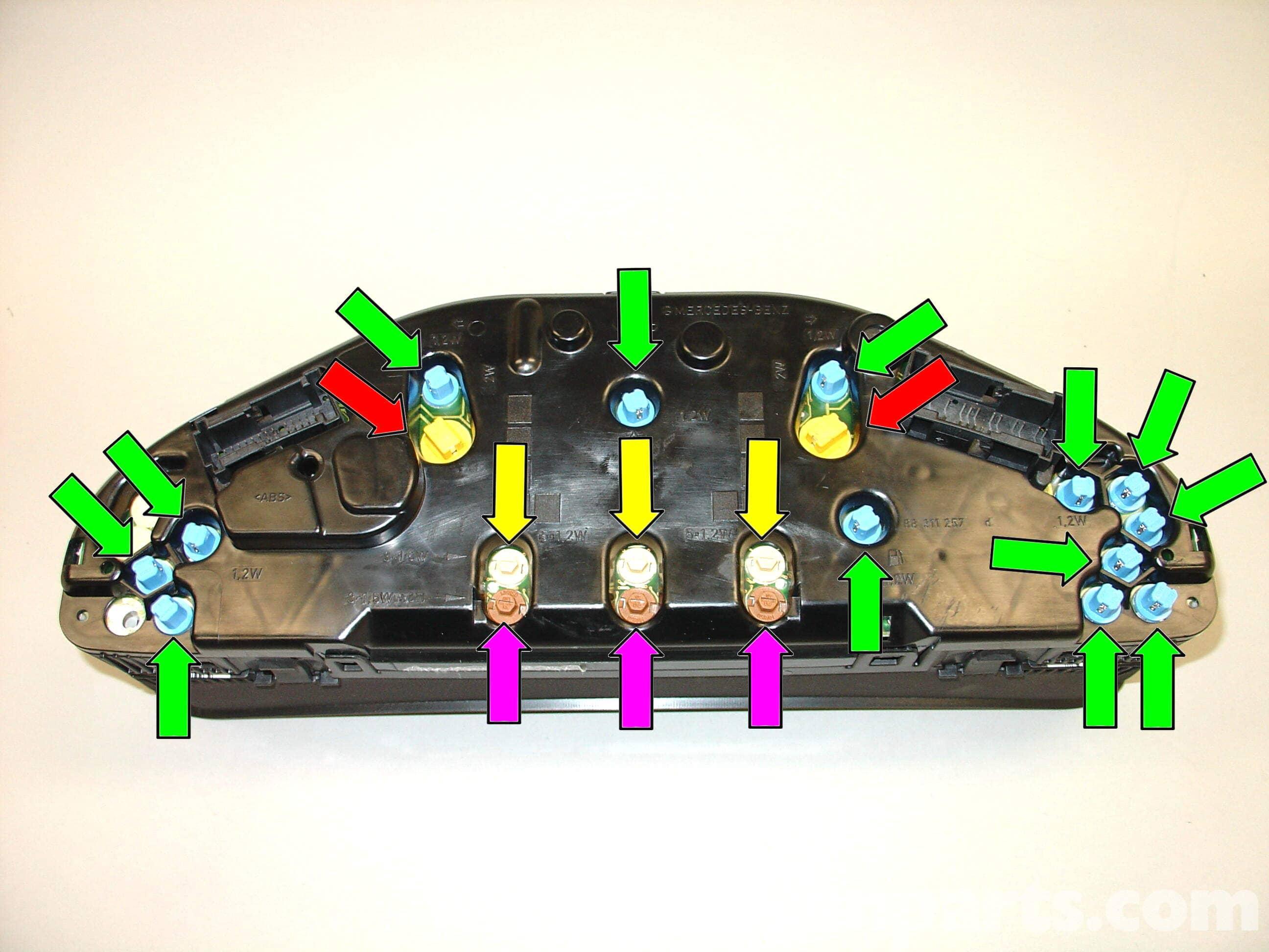 C Mercedes Instrument Cluster Wiring Diagram on