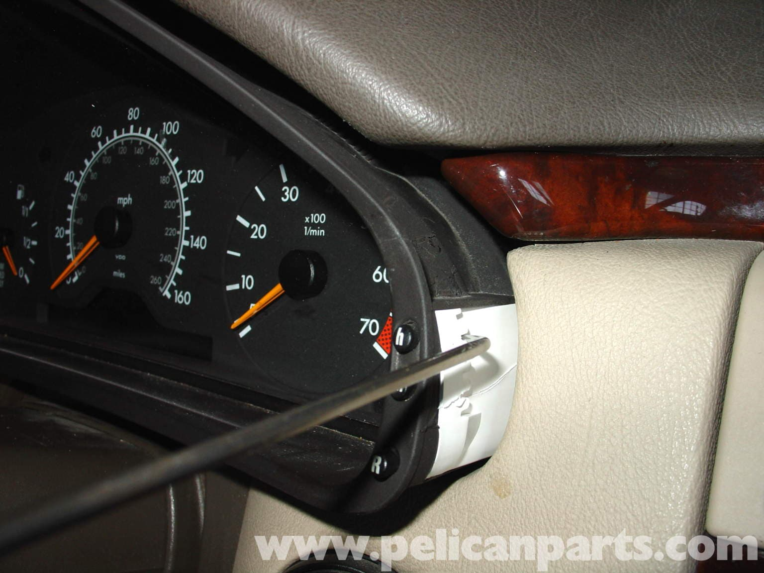 Mercedes Benz W210 Instrument Cluster Bulb Replacement