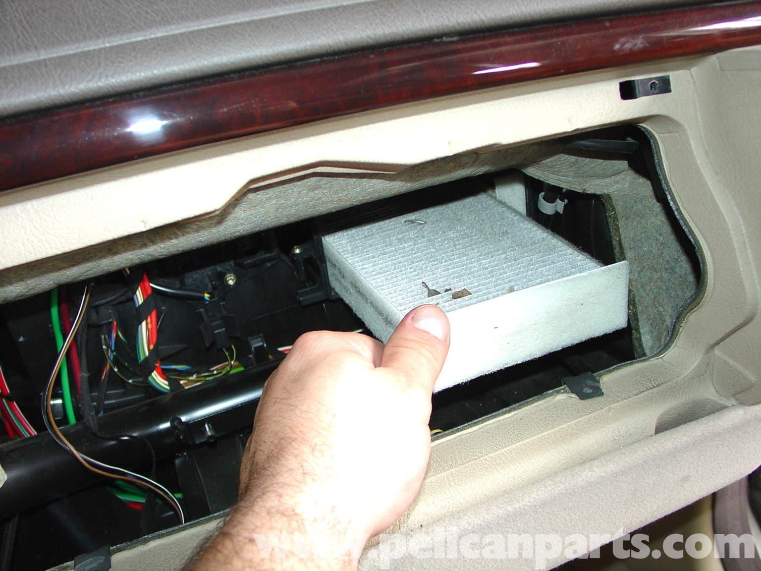 Mercedes Benz W210 Cabin Air Filter Replacement 1996 03