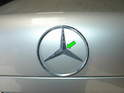 Here is the trunk star on our W210 project car.