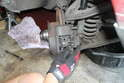 Insert the brake wear indicator sensors into the brake pads.