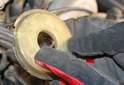 Inspect the dust cover for cracks.