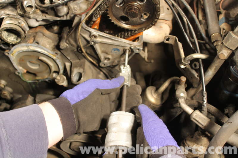 Timing Chain Replacement >> Mercedes-Benz R107 Timing Chain Top Guide Rails ...