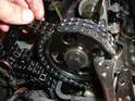 Once you have reached the end of the old chain, your chain ends should line up perfectly on the sprocket.