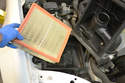 Now you can remove the old filter, clean the air box housing and install your new filter.