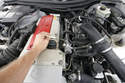 This SLK's fuel tank had been drained to replace its fuel level sender.