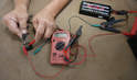 Relays can be checked using a car battery or other 12-volt DC power source (such as a battery charger) and a multimeter.