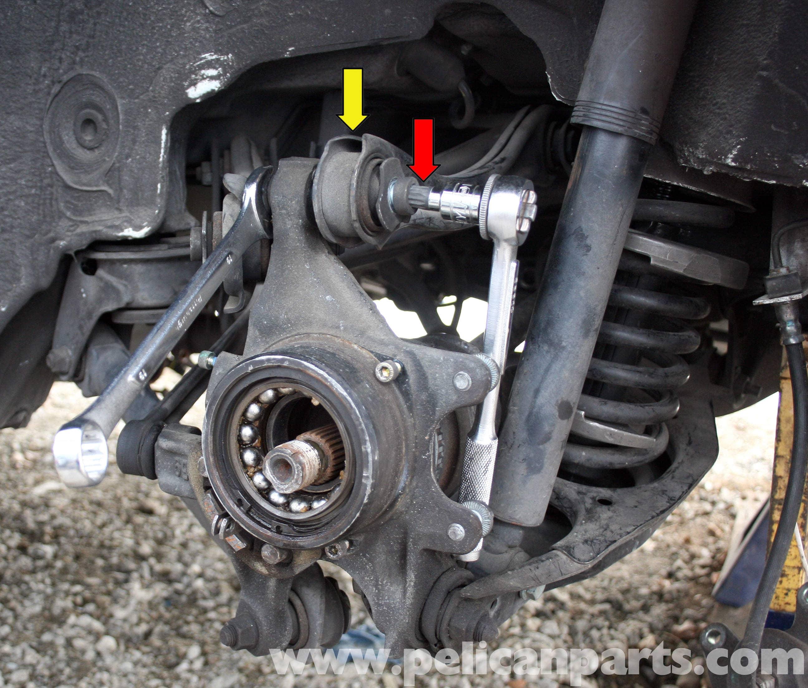 1998 Mercedes Benz Slk Class Suspension: Mercedes-Benz SLK 230 Rear Knuckle Wheel Carrier Removal