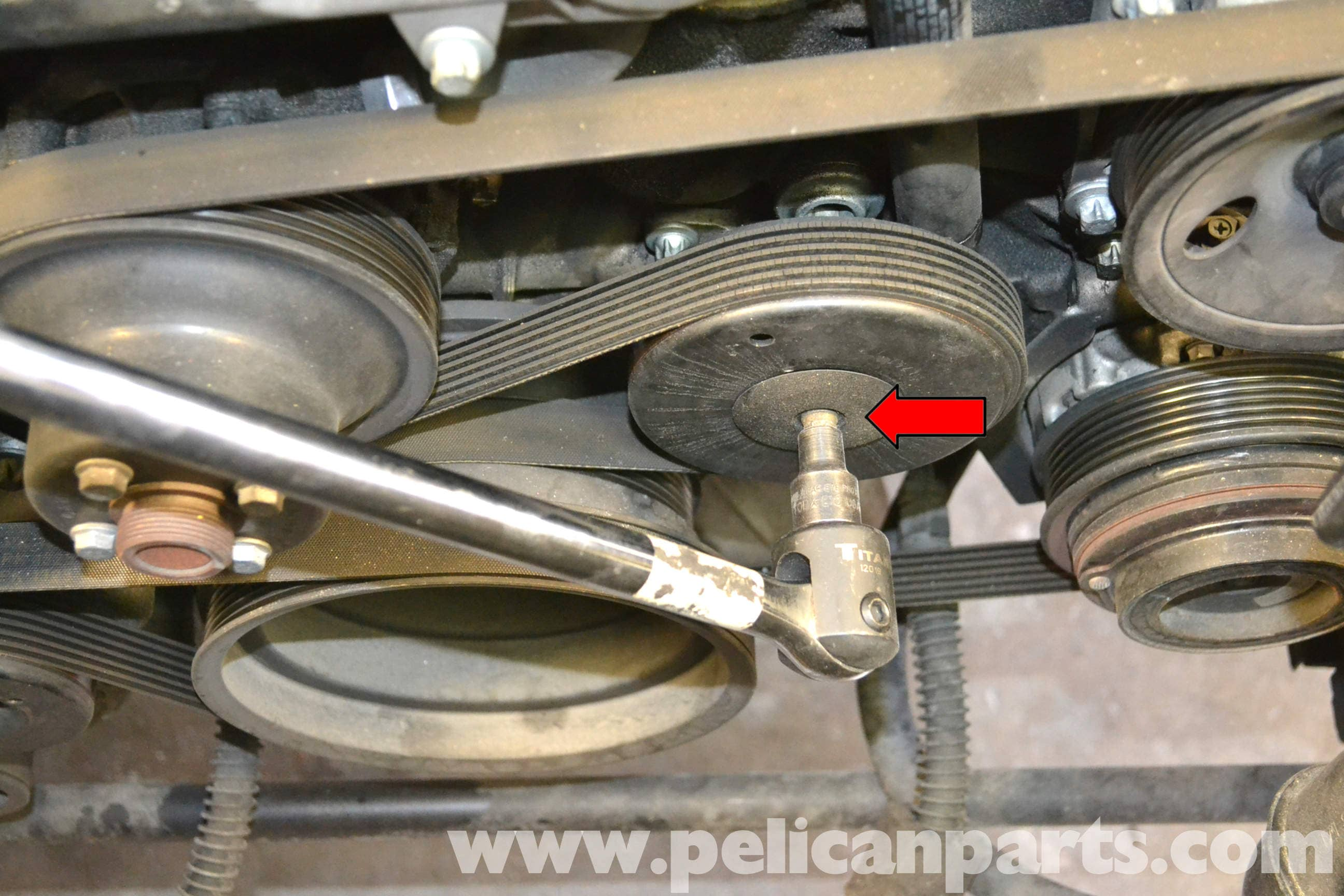 Mercedes Benz SLK 230 Belt Tensioner Replacement 1998