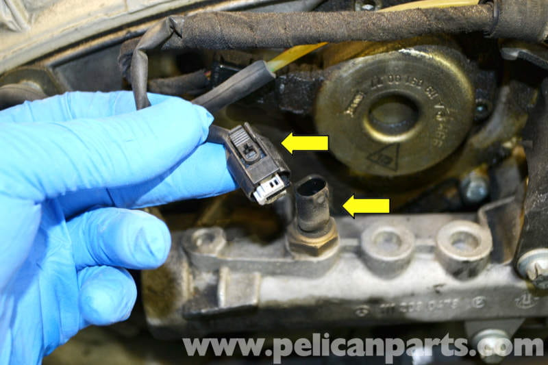 Mercedes-Benz SLK 230 Coolant Temperature Sensor Replacement | 1998-2004 | Pelican Parts DIY ...