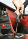 The knob can then be lifted up and off the shift lever.