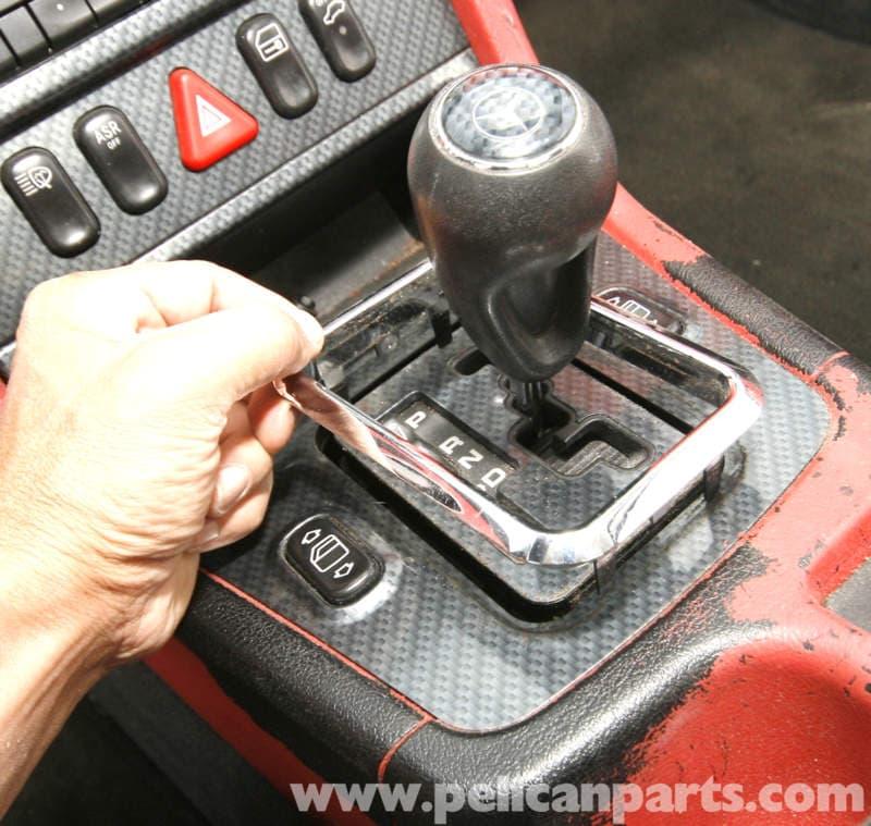 Mercedes-Benz SLK 230 Shifter Cover Plate Removal