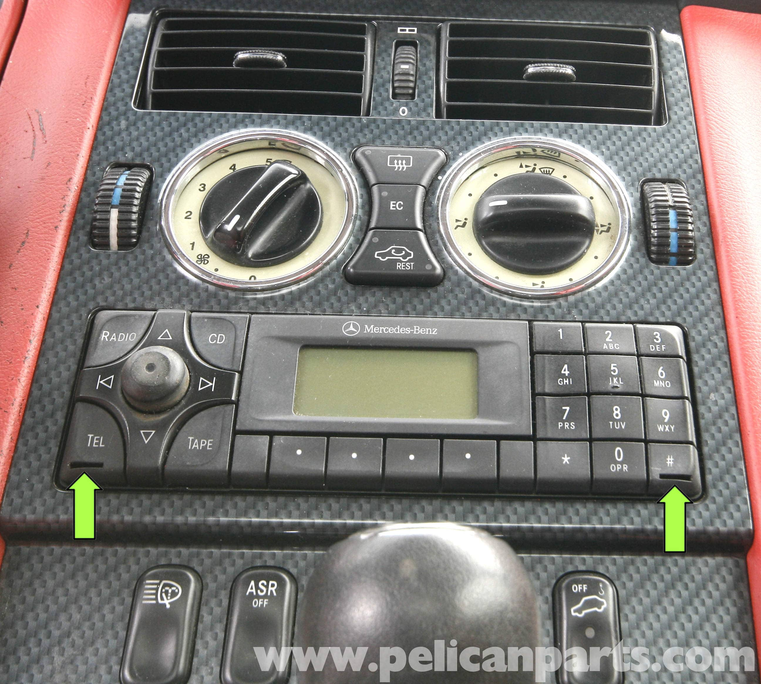 Mercedes Benz Slk 230 Radio Removal 1998 2004 Pelican Parts Diy Clk 250 Fuse Box Large Image Extra