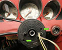 Mark the steering wheel's position on the shaft and pulling the wheel off.