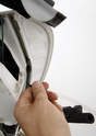 A 4mm hex/Allen wrench/bit is used again to unscrew the lock (driver's side) or guide (passenger's side).