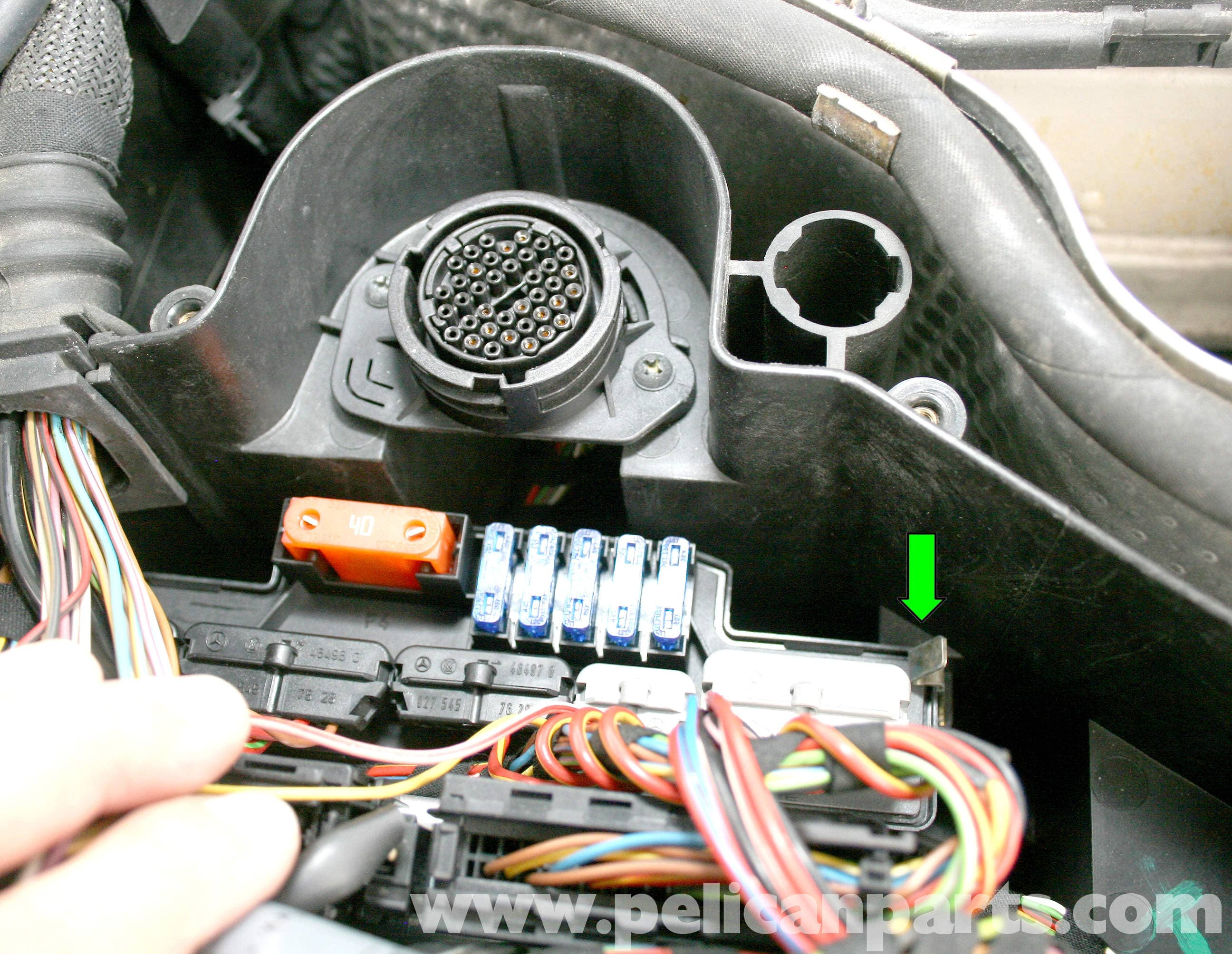Mercedes Benz Slk 230 K40 Overload Protection Relay Repair 1998 Car Fuse Box Troubleshooting Large Image Extra