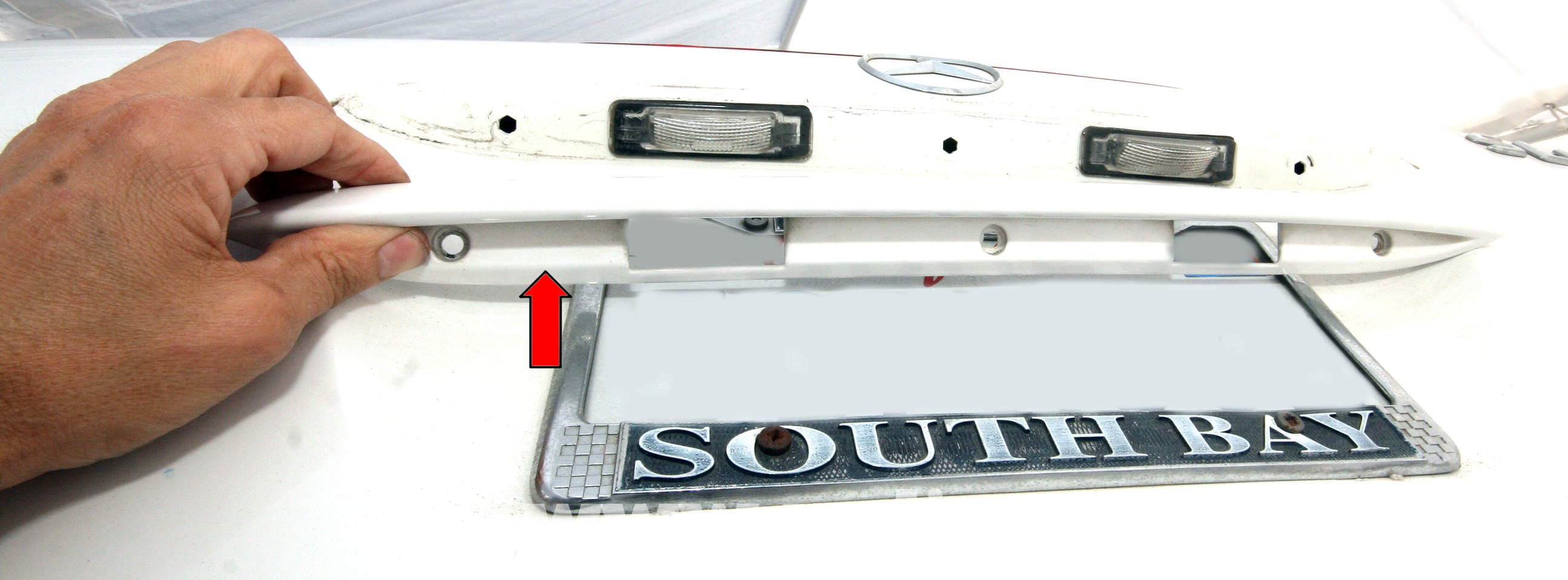 Mercedes-Benz SLK 230 License Plate Light Bulb Replacement ... on