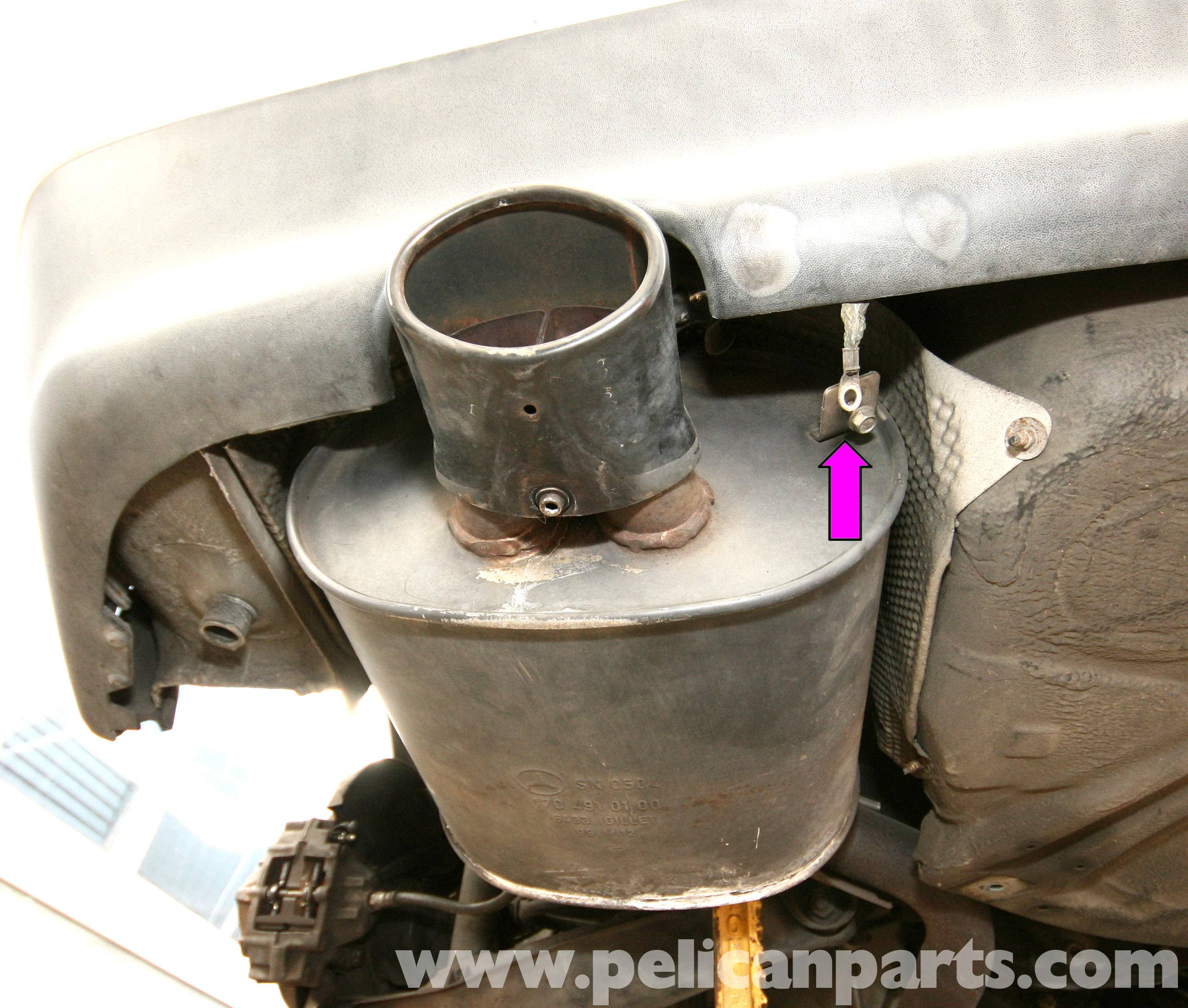 Mercedes-Benz SLK 230 Muffler and Tailpipe Replacement