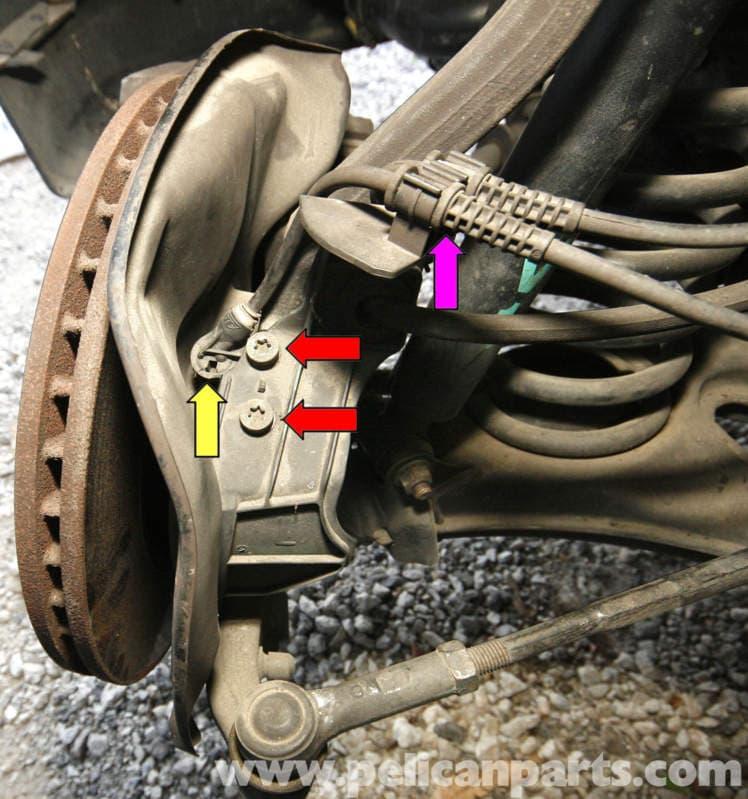 1998 Mercedes Benz Slk Class Suspension: Mercedes-Benz SLK 230 ABS Wheel Speed Sensor Replacement
