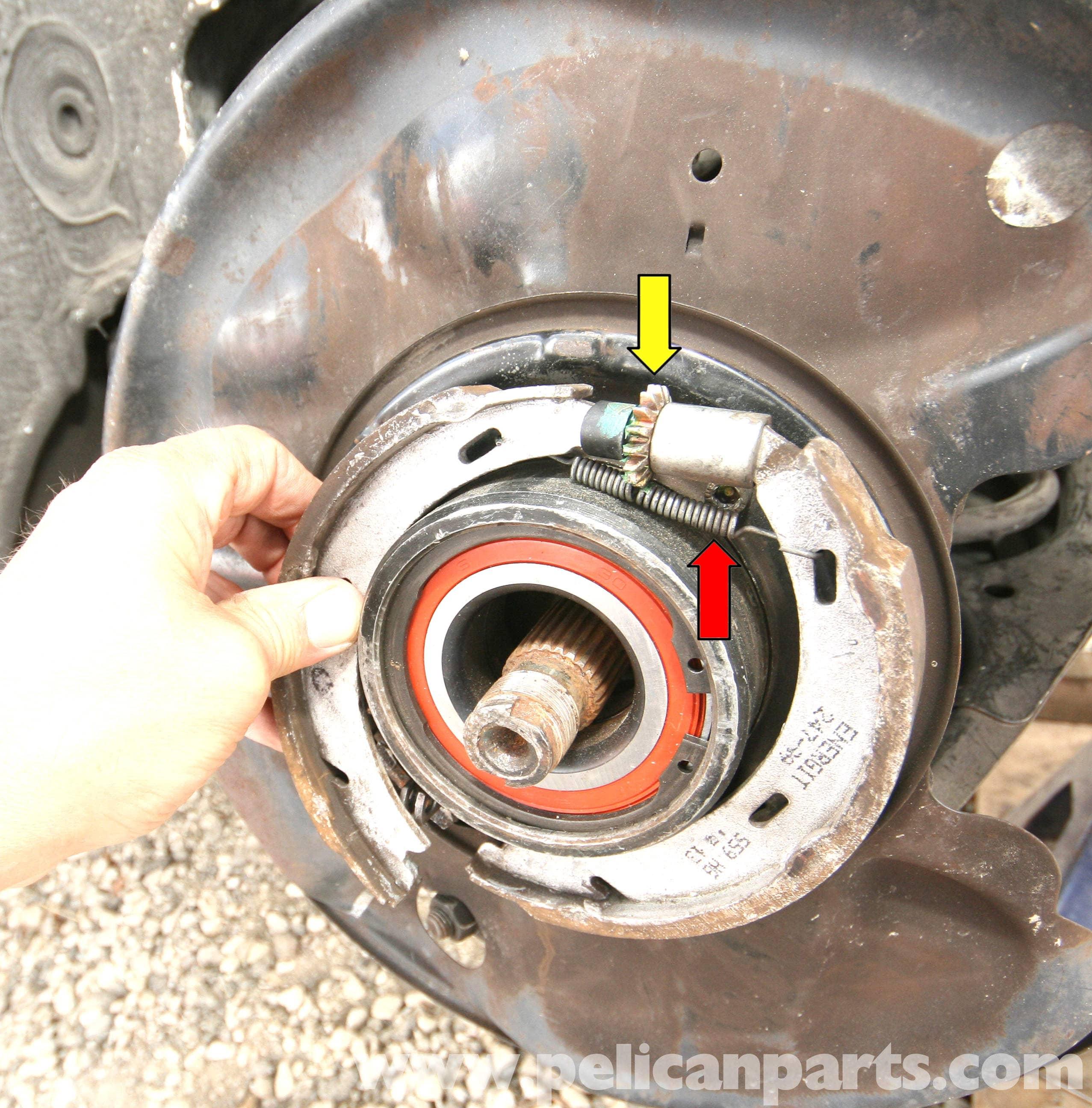 Mercedes benz slk 230 parking brake shoe replacement for Mercedes benz brake tools