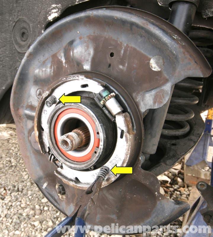 Mercedes Benz Slk 230 Parking Brake Shoe Replacement