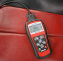 With the key in the ON position or the car running (refer to the tool's manual), the scanner should show something on its display if the cable is connected properly.