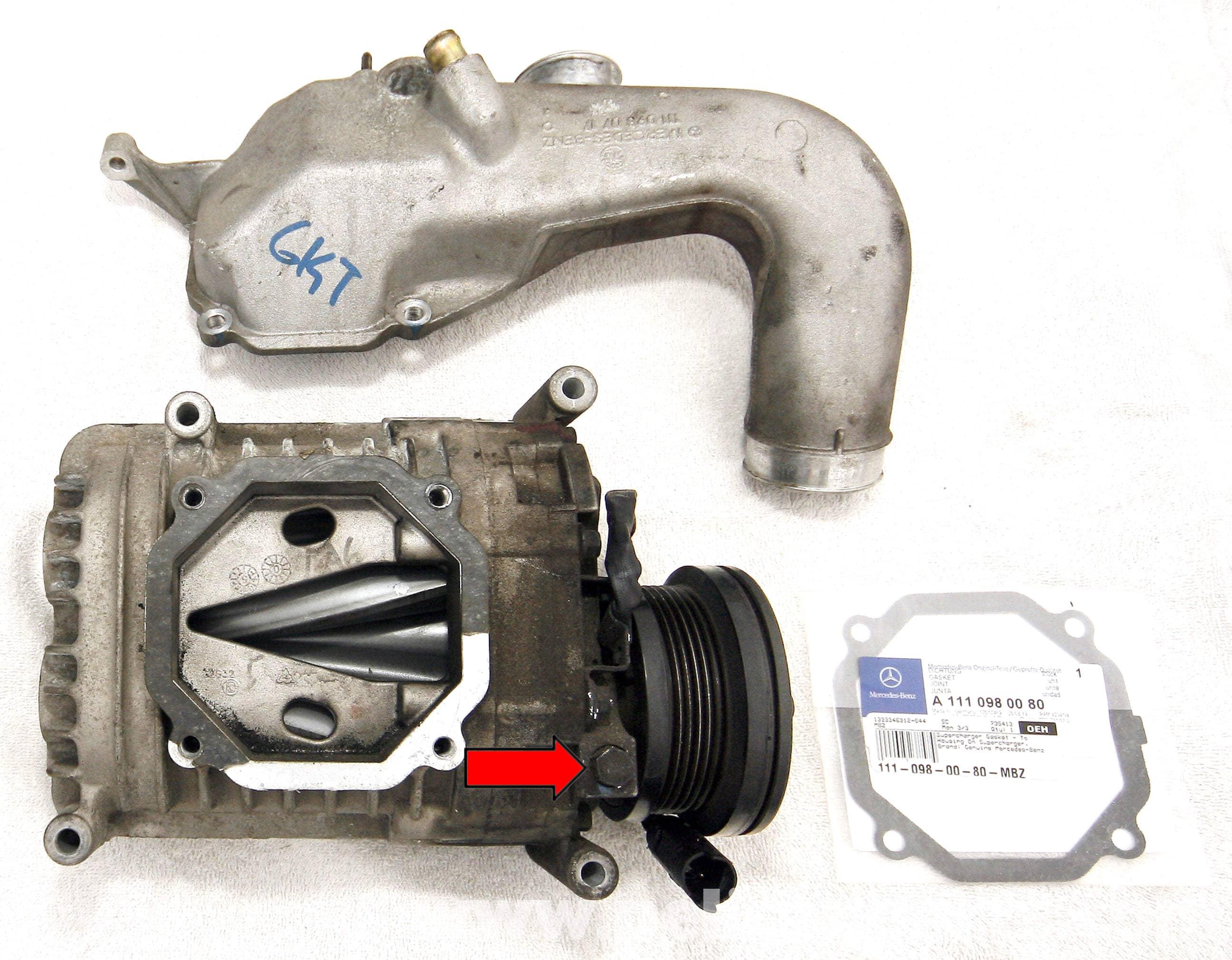 Mercedes benz slk 230 supercharger oil change 1998 2004 for Mercedes benz slk 230 kompressor parts