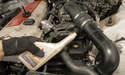 Use fresh power steering fluid.