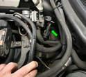 Begin by removing the upstream oxygen sensor.