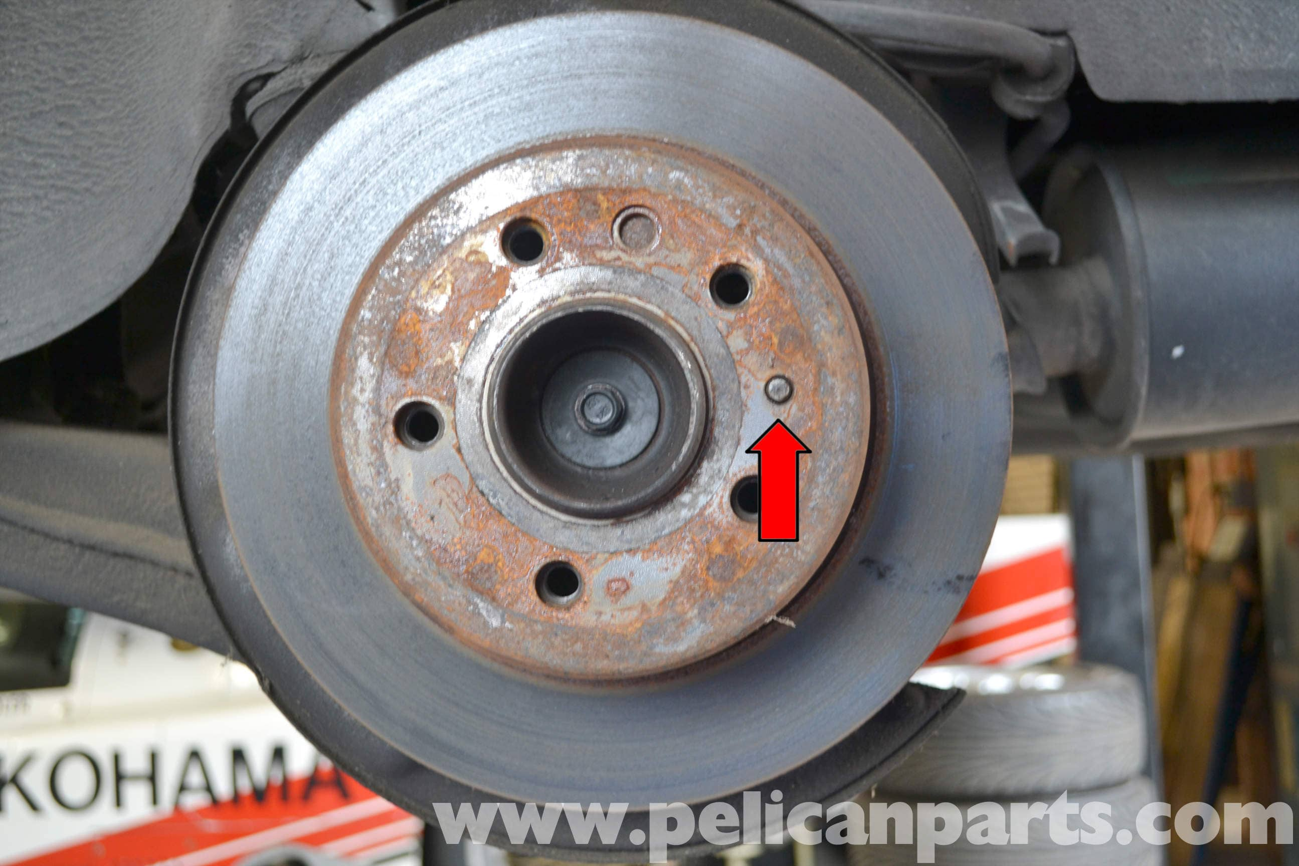 Mercedes benz w123 rear brake rotor or disc replacement for Mercedes benz rotors replacement