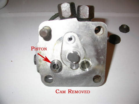 Remove the cam from the valve and set it aside on a clean rag.