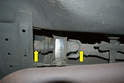 Before you begin removing things make sure to mark the relationship between the two sections of the drive shaft (yellow arrows).